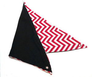 Reversible red/white/black hammock
