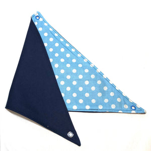 Reversable hammock blue with white polka dots