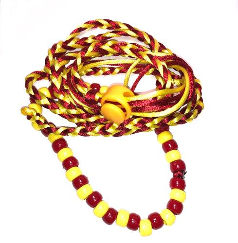 Red and yellow adjustable leash