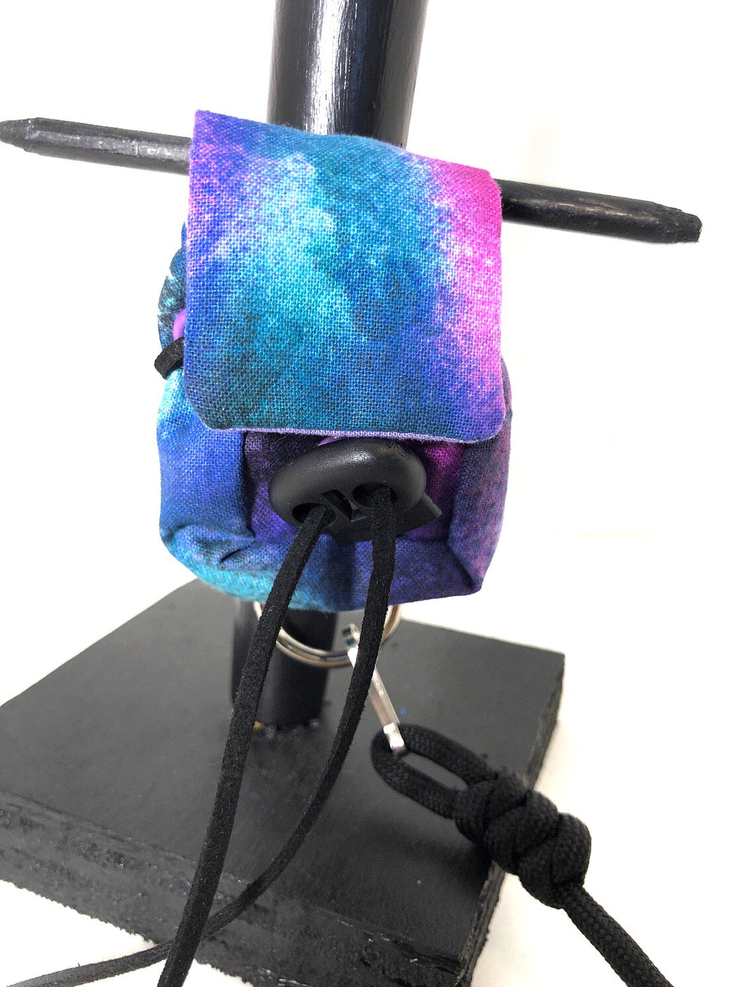Blue and purple tie dye backpack  harness