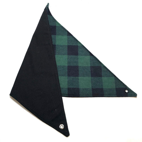 Reversable green and black plaid hammock