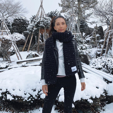 Alexandra Talifero in the snow