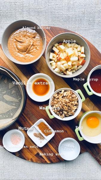 Cinnamon Apple Cake ingredients photo