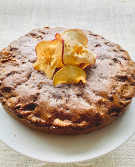 Apple Cinnamon Cake decorated without icing