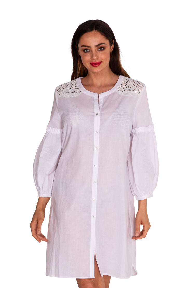 Creole Broderie Shirtdress - Clothing - Monte & Lou