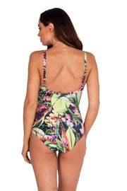 Jungle Bloom DD/E 'V' Neck Maillot - One Piece - Monte & Lou