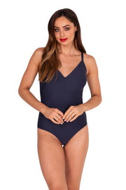DD/E 'V' Neck Maillot - One Piece - Monte & Lou