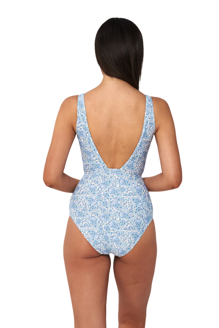Dreamweaver Eyelet Plunge Maillot - One Piece - Monte & Lou