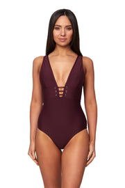 Eyelet Plunge Maillot - One Piece - Monte & Lou