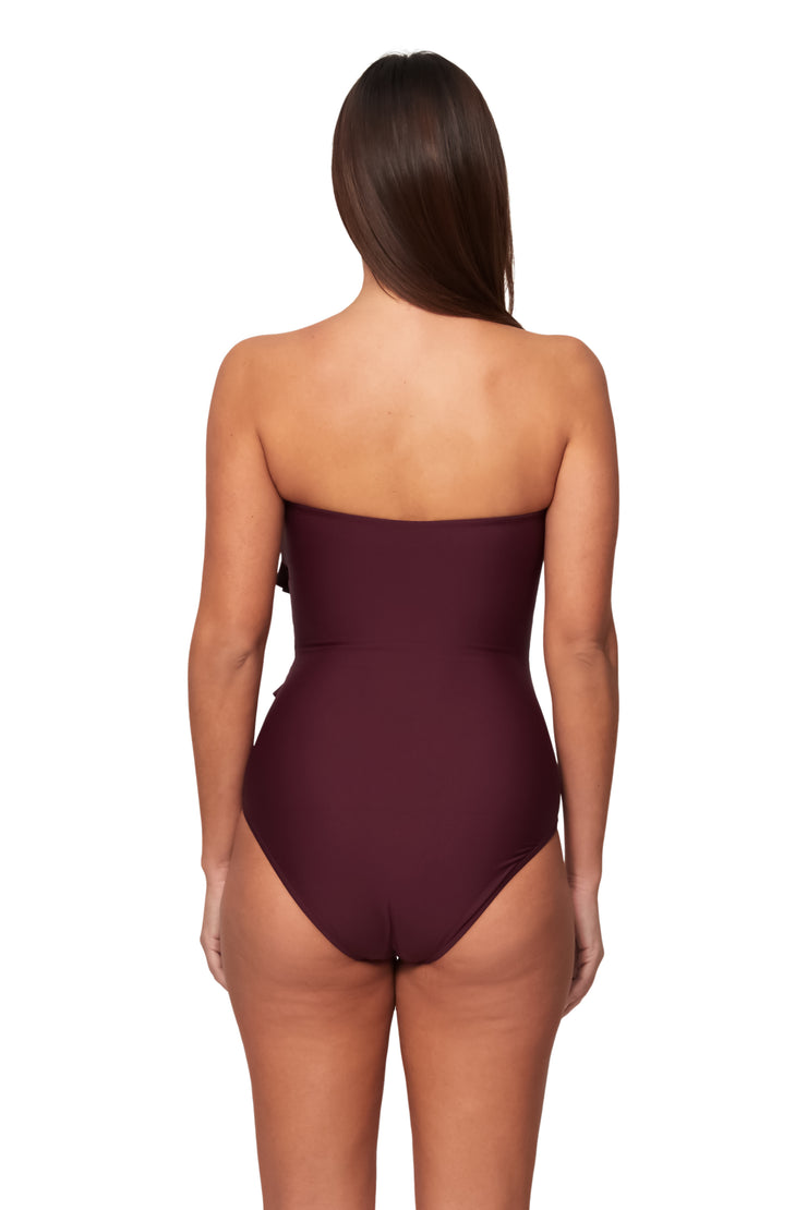 Spliced Bandeau Maillot - One Piece - Monte & Lou