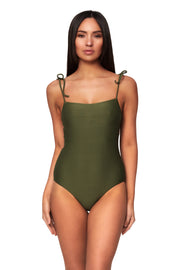 Horizon Texture Tie Shoulder Maillot - One Piece - Monte & Lou