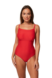 Horizon Texture DD/E Square Neck Maillot - One Piece - Monte & Lou