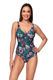 Dahlia Dreaming Multi Fit Tab Front Maillot - One Piece - Monte & Lou