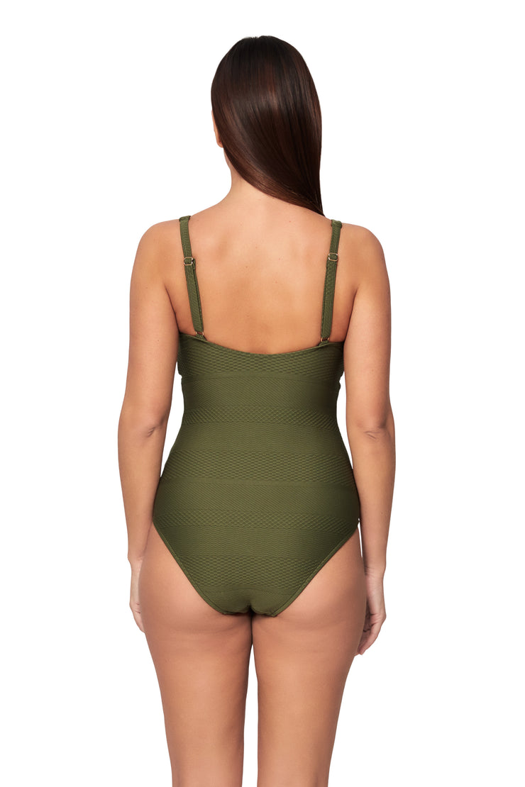 Horizon Texture Tab Front Maillot - One Piece - Monte & Lou