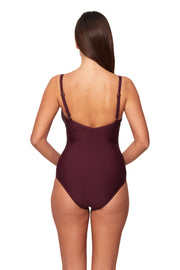 "DD/E ""V"" Neck Maillot - One Piece - Monte & Lou"