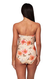 Ruched Bandeau Maillot -  - Monte & Lou