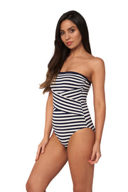 Hamilton Stripe Body Wrap Bandeau - One Piece - Monte & Lou