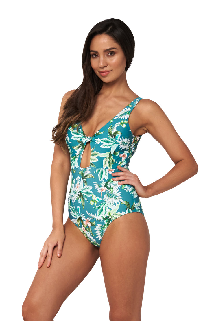 Hot Tropics Knot Front Maillot - One Piece - Monte & Lou