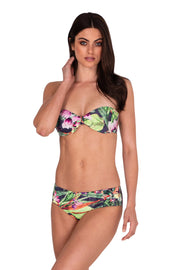 Jungle Bloom Ruched Panel Pant - Bikini Bottoms - Monte & Lou