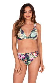 Jungle Bloom DD/E Extended Tri Top - Bikini Tops - Monte & Lou