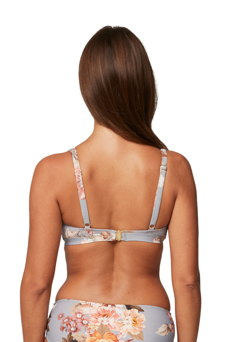 Flourish Cross Front F Cup Bra Top - Bikini Tops - Monte & Lou