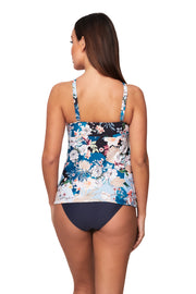 Retro Tokyo 'F' Cup Ruched Front Singlet - Bikini Tops - Monte & Lou
