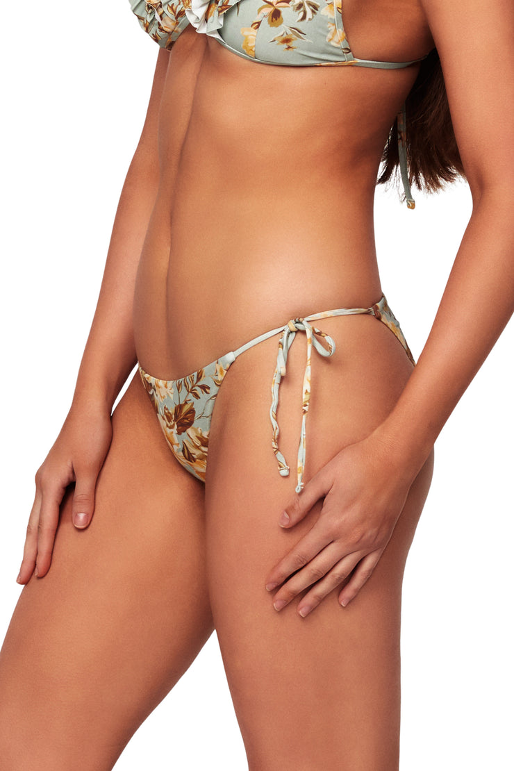 Wild Rose Tie Side Pant - Bikini Bottoms - Monte & Lou