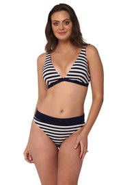 Hamilton Stripe Contrast Band High Pant - Bikini Bottoms - Monte & Lou