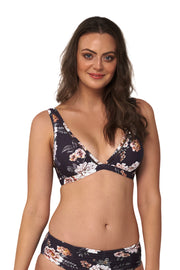 Vintage Floral Up To A DD Extended Tri - Bikini Tops - Monte & Lou