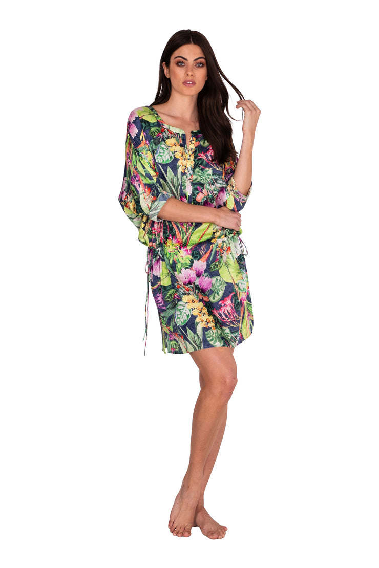 Jungle Bloom Shirtdress - Clothing - Monte & Lou