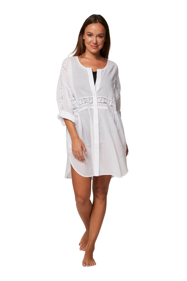 Vacation Shirt Dress - Clothing - Monte & Lou