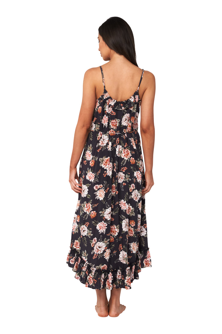 Vintage Floral Frill Slip Dress - Clothing - Monte & Lou
