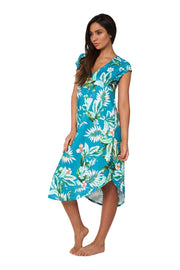 Hot Tropics Cap Sleeve Dress - Clothing - Monte & Lou