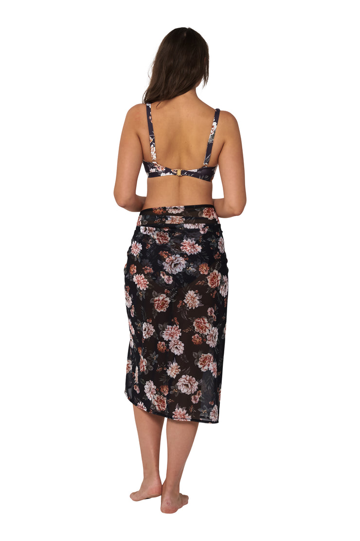 Vintage Floral Mesh Sarong - Clothing - Monte & Lou