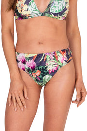 Jungle Bloom Mid Rise Pant - Bikini Bottoms - Monte & Lou