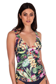 Jungle Bloom Extended Tri Singlet Top - Bikini Tops - Monte & Lou