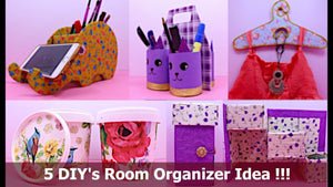 DIYProjects #DIYOrganizer #HandmadeThings 5 DIY's Room Organizer Idea | Best cardboard box craft idea | DIY Projects | Aloha Crafts If you enjoyed this ...