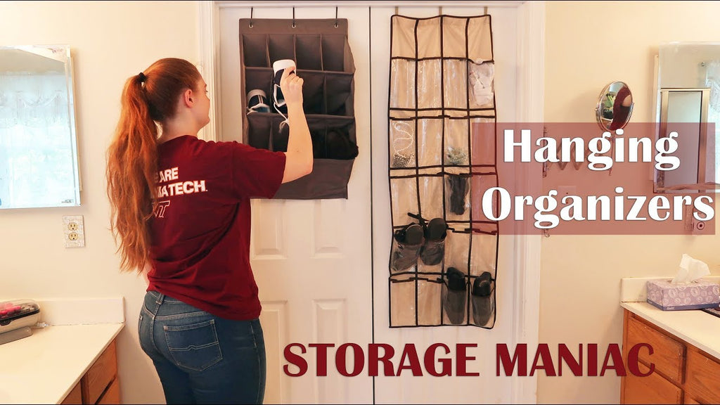 GET ORGANIZED WITH STORAGE MANIAC! VERTICAL DOOR SPACE IS WASTED - ADD HANGING ORGANIZERS TO CLOSET DOORS, OFFICE, PANTRY, ...