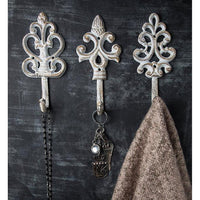 Shabby Chic Cast Iron Decorative Wall Hooks