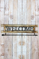 11 x 36.25 'Welcome' Wood and Metal Wall Hook