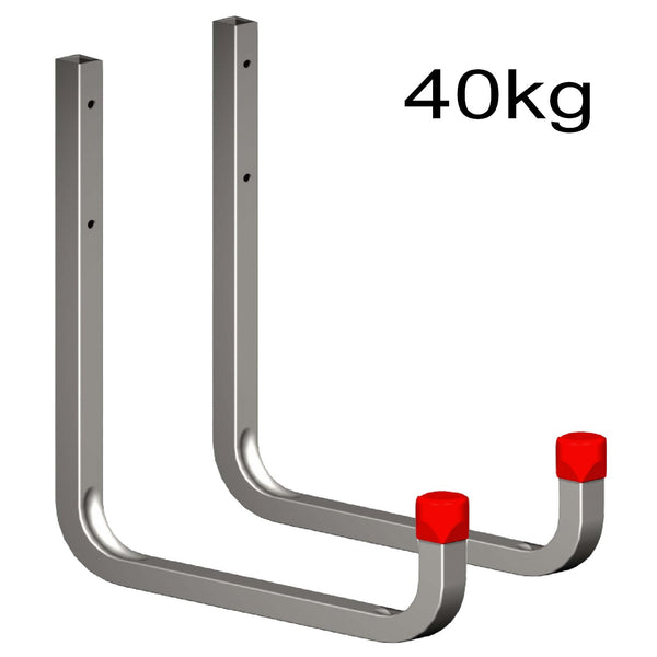 2 x 250mm Extra Large Storage Wall Hooks 40kg Galvanised Steel