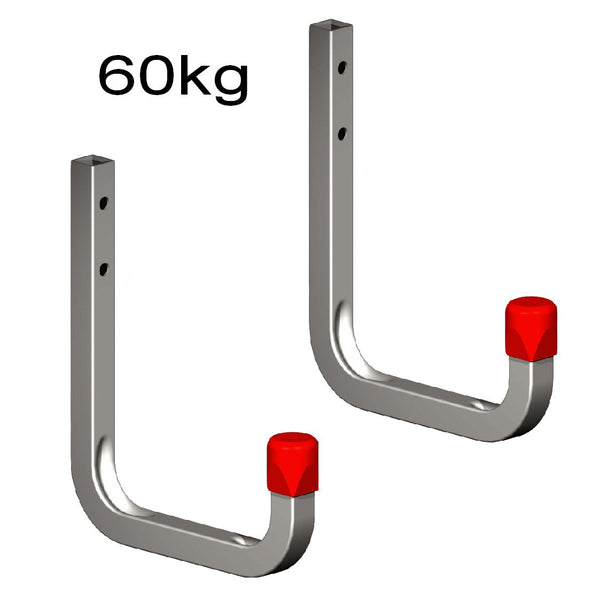 2 x 115mm Storage Wall Hooks 60kg Galvanised Steel<br><br>