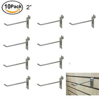 10 Counts Chrome Utility Pegboard Slatwall Single Pin Hooks 2  / 4  / 6  / 8  / 10  / 12  For Shop Display Fitting (2 )