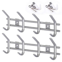 Protasm Wall Mounted Coat Hooks Stainless Steel Heavy Duty Wall Hooks Rail Robe Hook Rack for Bathroom Kitchen Entryway Closet
