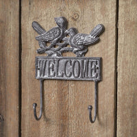 Welcome Bird Wall Hook