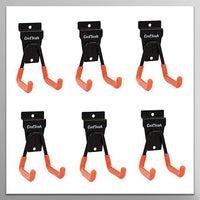 Slatwall Hooks Heavy Duty, Garage Storage Utility Double Hooks For Organizing Power Tools,Small U Hooks (pack of 6, 2 × 2.8 × 4.2 inches)