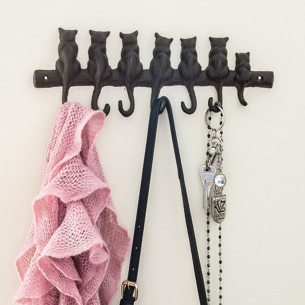 7 Cats Cast Iron Wall Hanger