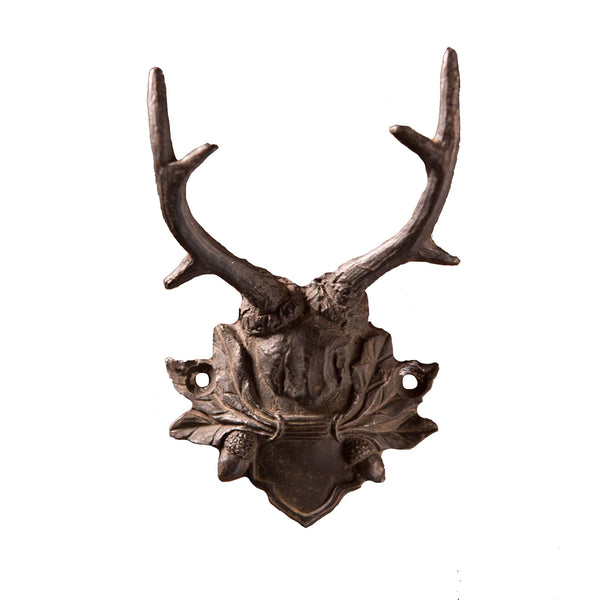 Antiqued Black Pewter Antler Wall Hook