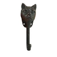 Cast Iron Cat Head Wall Hook