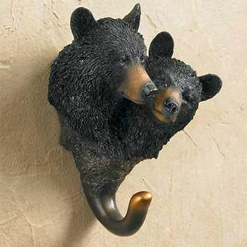 Black Bear Couple Wall Hook